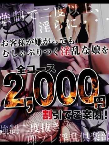 全コース2,000円割引!! 強制ニ度抜き即プレ淫乱倶楽部 (新橋発)