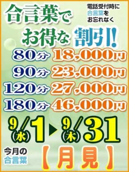 9月のイベント! グリーンダイヤ (大塚発)