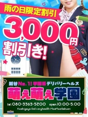 雨の日限定割引3000円 萌え萌え学園 (越谷発)