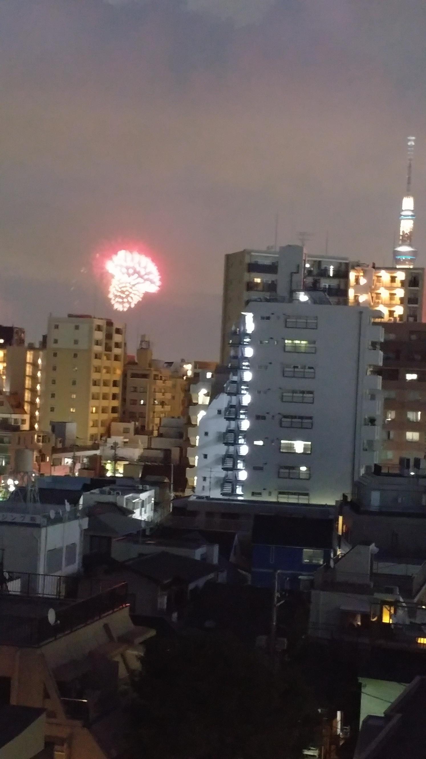 隅田川花火そして4時受付迄出勤してまーす!