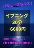 イブニング6600円