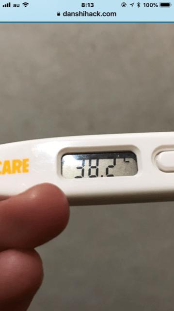 熱が出てしまいました