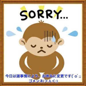 ごめんなさいm(_ _)m今日は、お休みです。