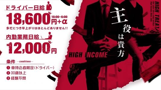 CLUBクラウン東京の男性高収入求人
