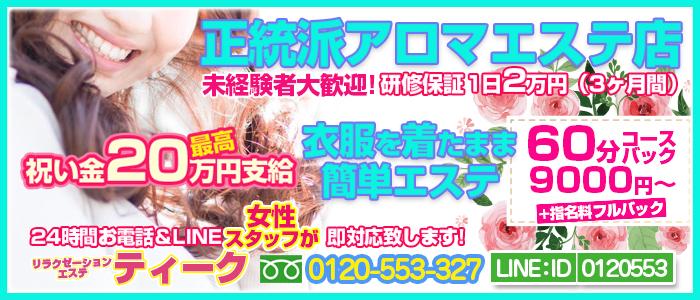 未経験・大阪回春性感 エステ・ティーク 谷九店