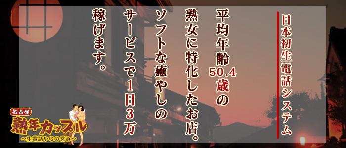 熟年カップル名古屋~生電話からの営み~の求人画像