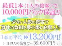 1人の接客で1万円以上!