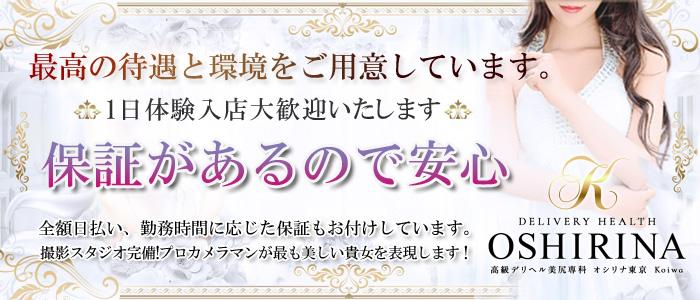高級デリヘル オシリナ東京Koiwaの体験入店求人画像