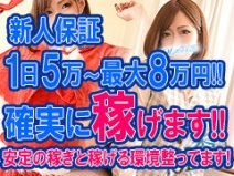 新人保証あります!入店祝い金15万円支給!のアイキャッチ画像
